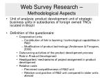 web survey research methodological aspects