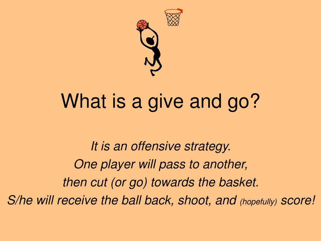 What is a give and go?