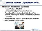 service partner capabilities cont