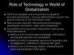 role of technology in world of globalization
