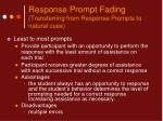 response prompt fading transferring from response prompts to natural cues13