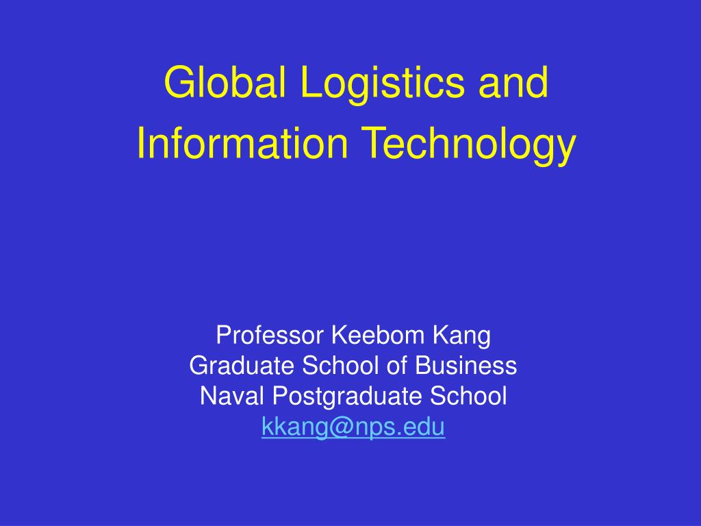 global logistics and information technology l.