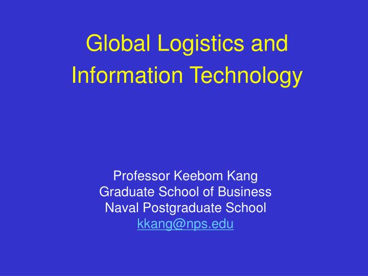 global logistics and information technology n.