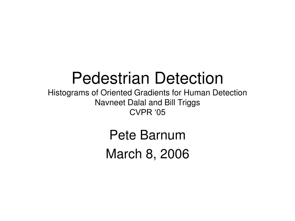Pedestrian Detection