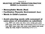 appendix a selecting optimal production practice words for beginning cycles