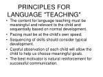 principles for language teaching