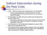 indirect intervention during the peso crisis
