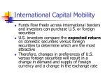 international capital mobility