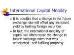 international capital mobility15