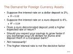 the demand for foreign currency assets13