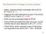 the demand for foreign currency assets15
