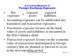 accounting measures of foreign exchange exposure