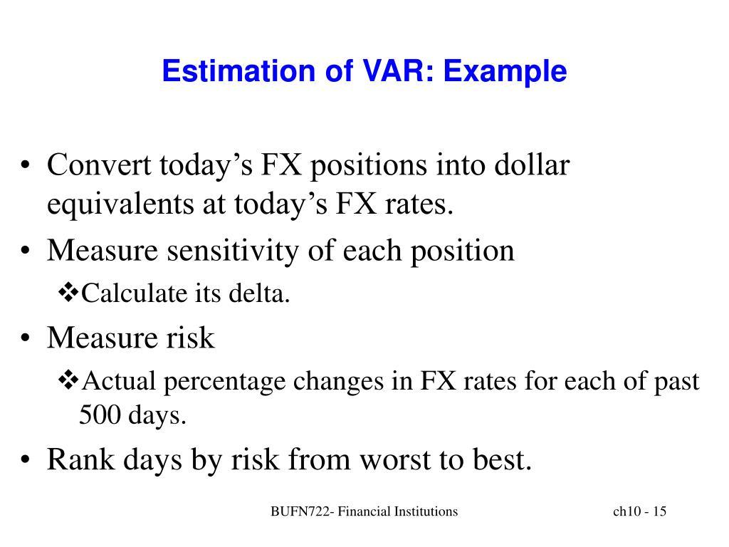 Estimation of VAR: Example