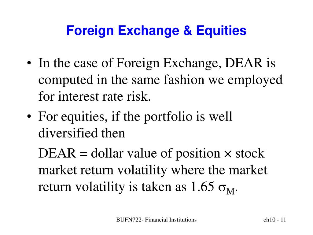 Foreign Exchange & Equities