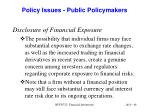 policy issues public policymakers
