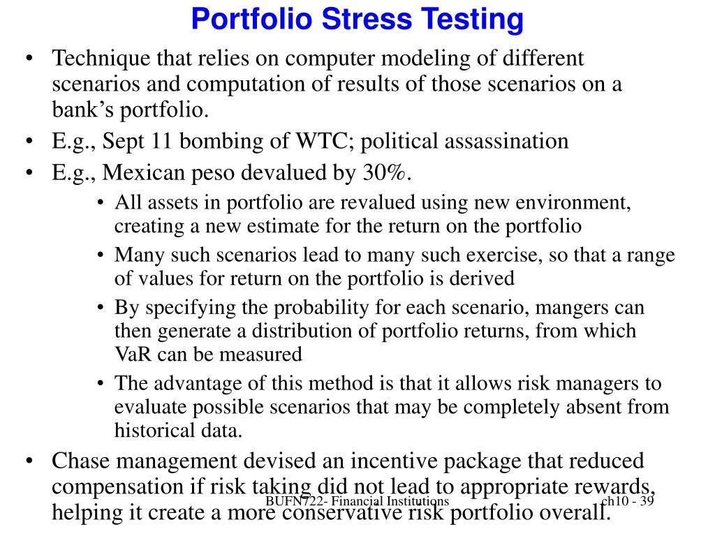 Portfolio Stress Testing