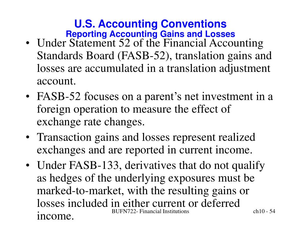 U.S. Accounting Conventions