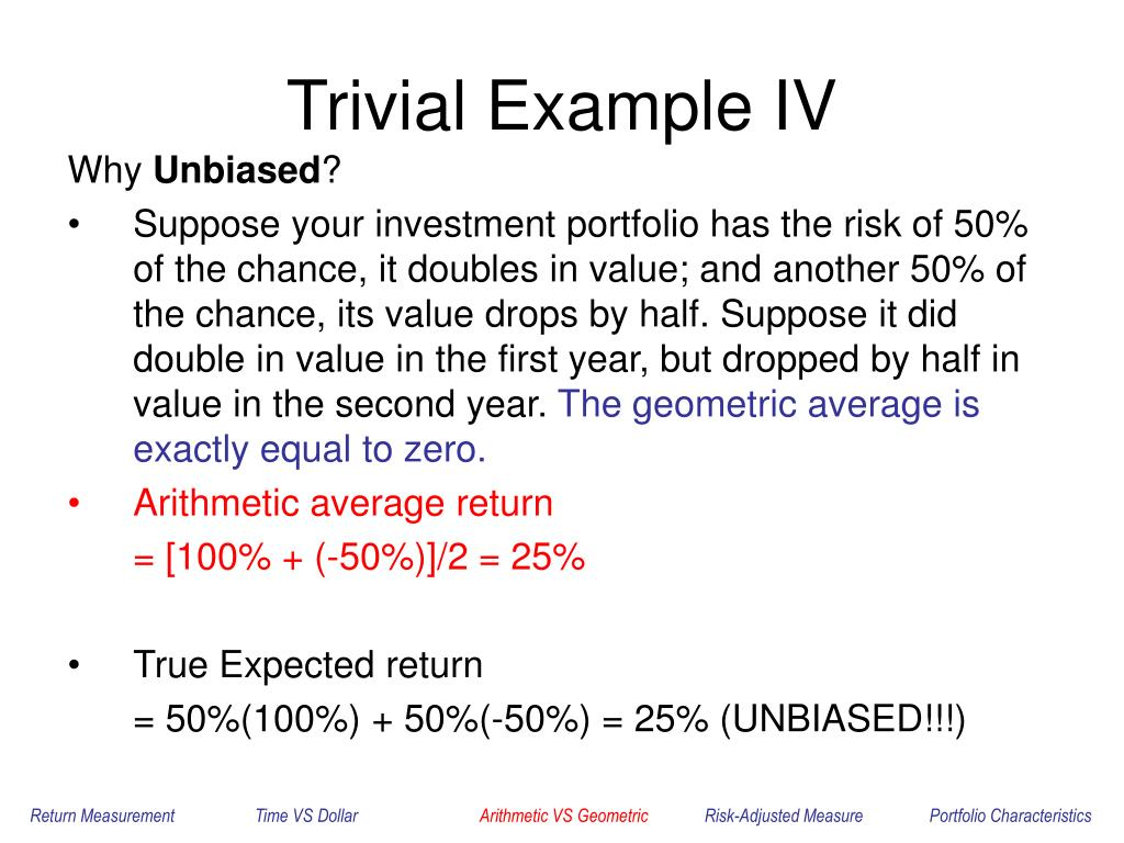 Trivial Example IV