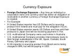 currency exposure