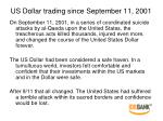 us dollar trading since september 11 2001