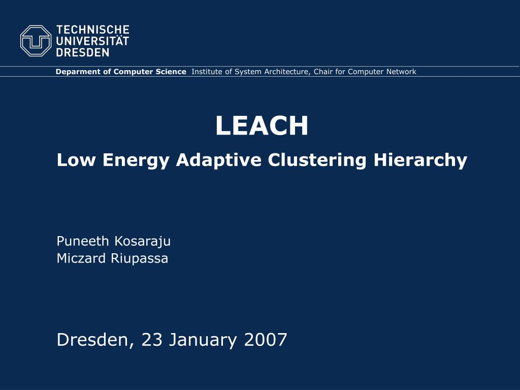 leach low energy adaptive clustering hierarchy l.