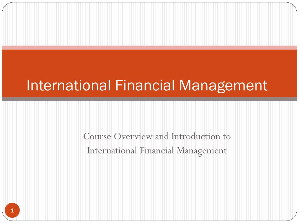 international financial management l.