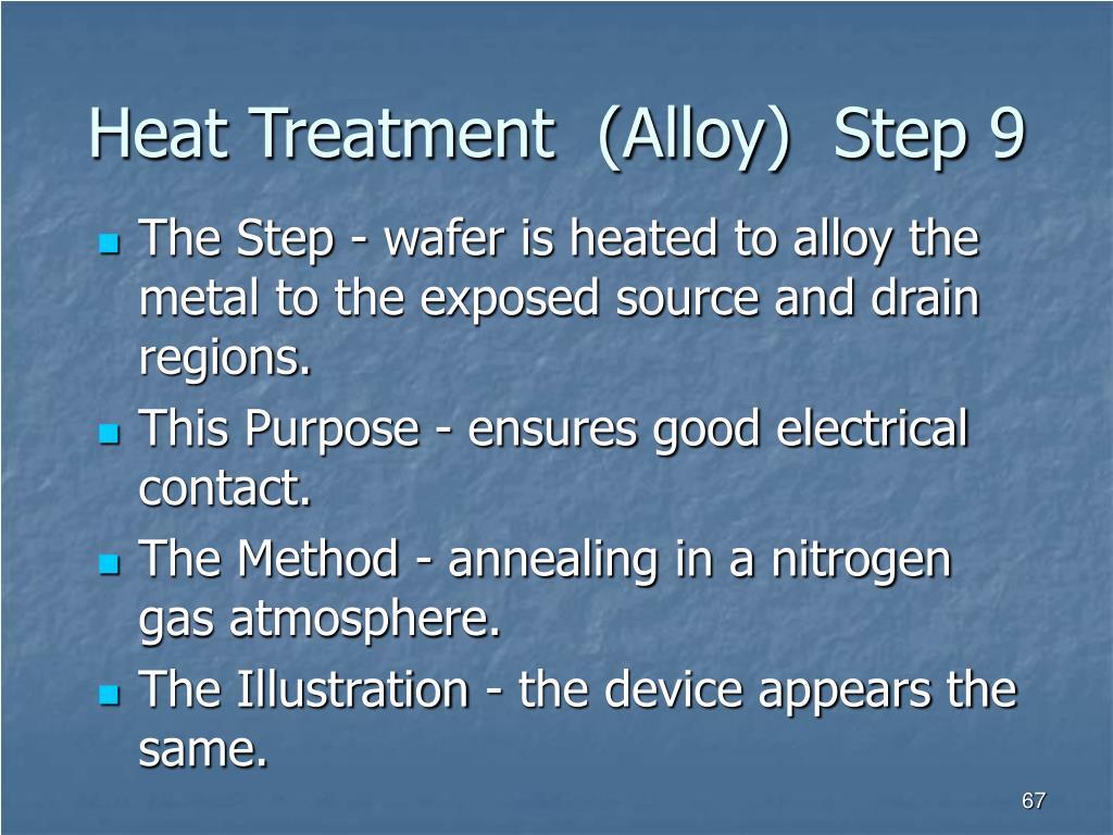 Heat Treatment  (Alloy)  Step 9
