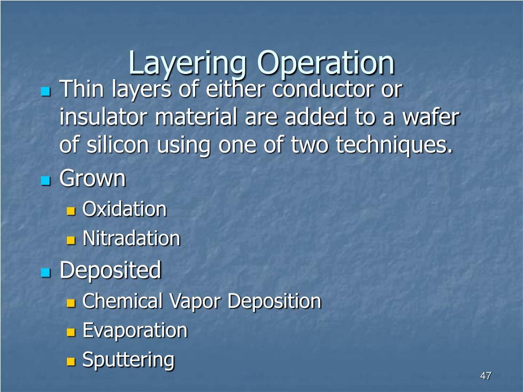 Layering Operation