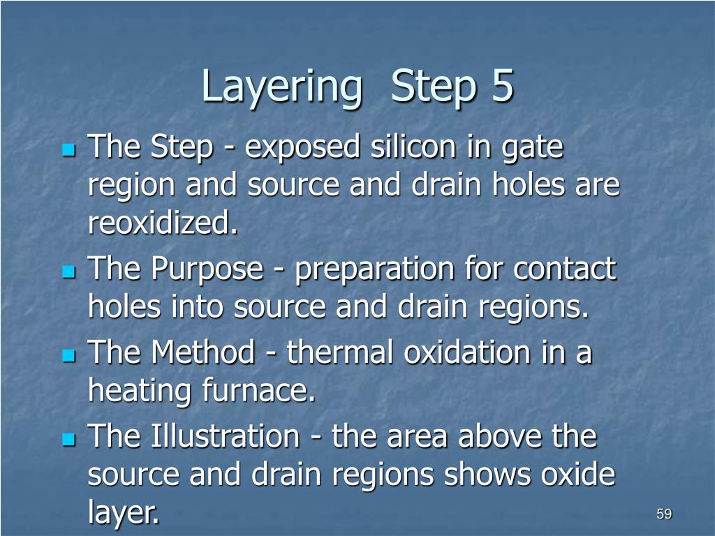 Layering  Step 5