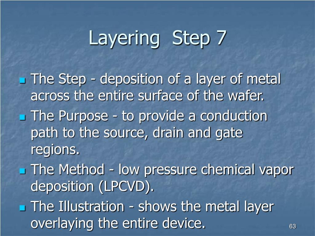 Layering  Step 7