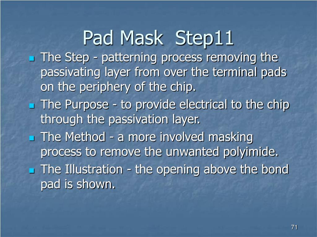 Pad Mask  Step11