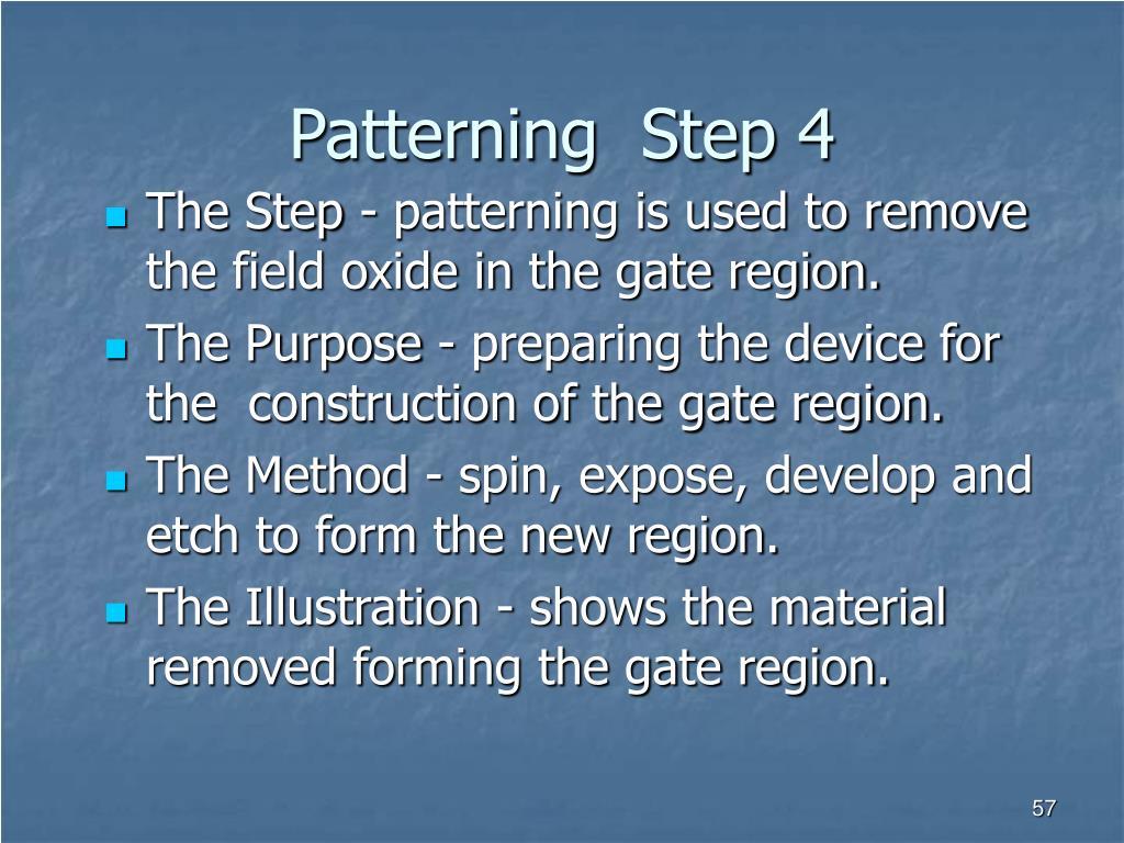 Patterning  Step 4