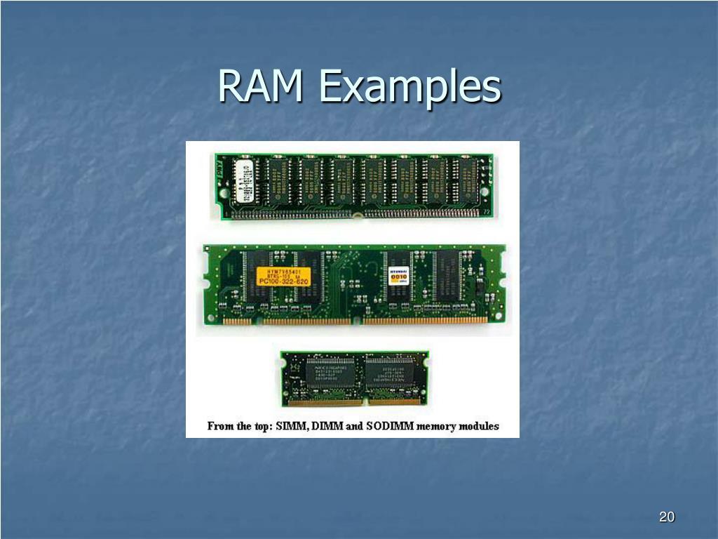 RAM Examples