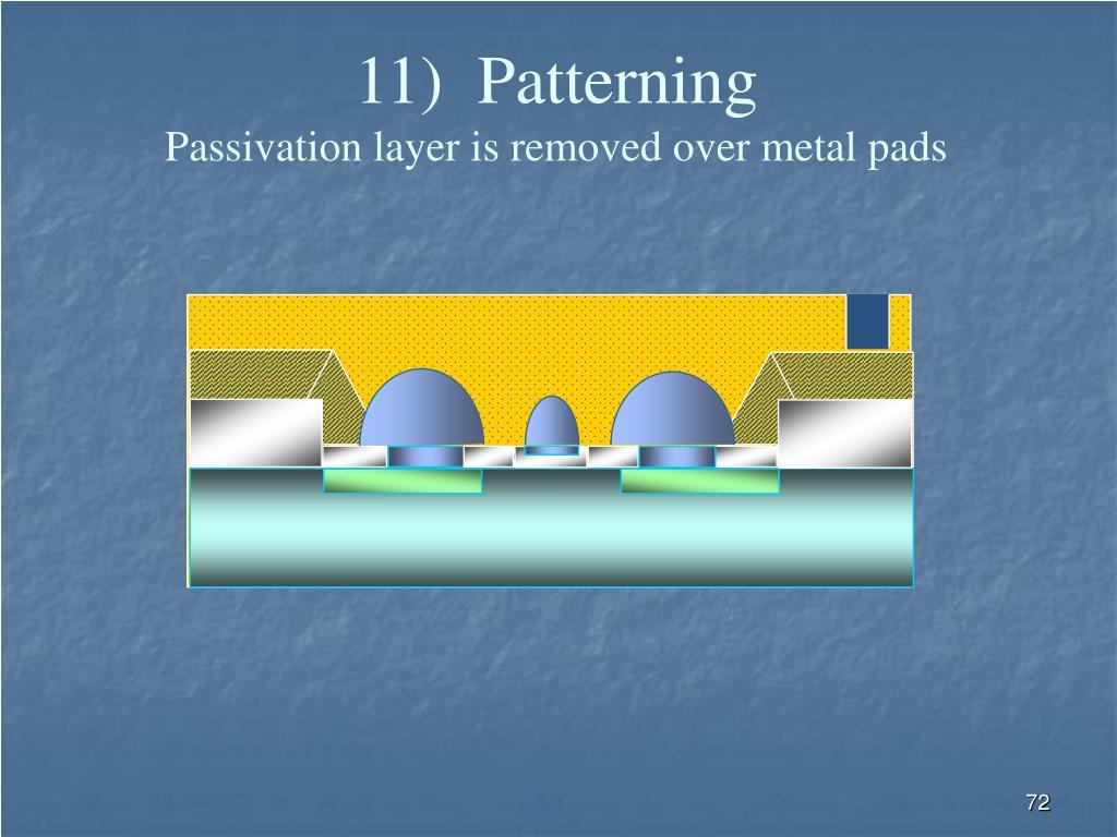 11)  Patterning