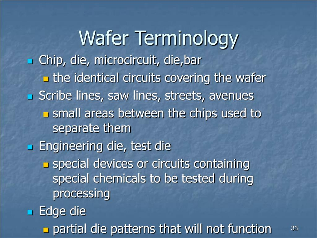 Wafer Terminology