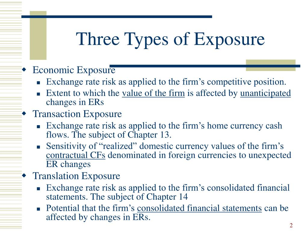 Three Types of Exposure