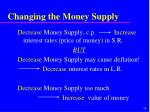 changing the money supply30
