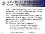 a brief history of indexation in chile the unidad de fomento