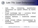 late 70s loan dollarization