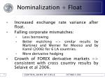 nominalization float