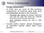 policy conclusions38