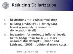 reducing dollarization