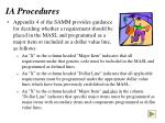 ia procedures