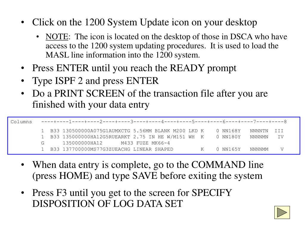 Click on the 1200 System Update icon on your desktop