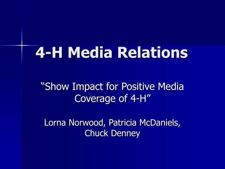 4 h media relations n.