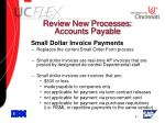 review new processes accounts payable