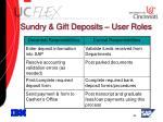 sundry gift deposits user roles