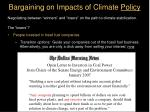 bargaining on impacts of climate policy6