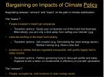 bargaining on impacts of climate policy7