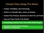 climate policy design pro series64